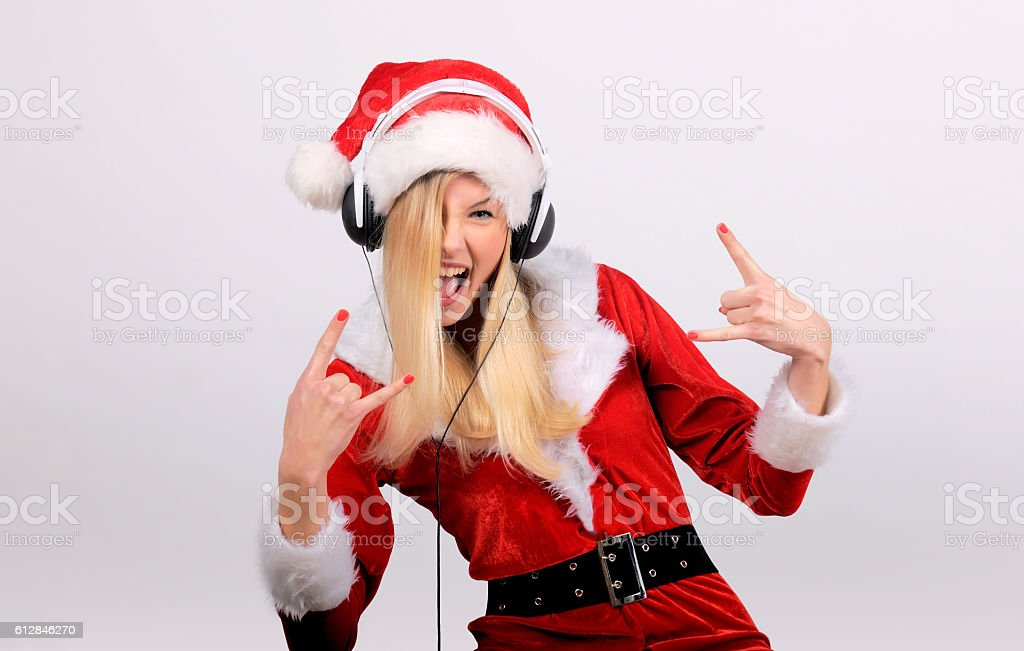 Christmas Music four stock photo