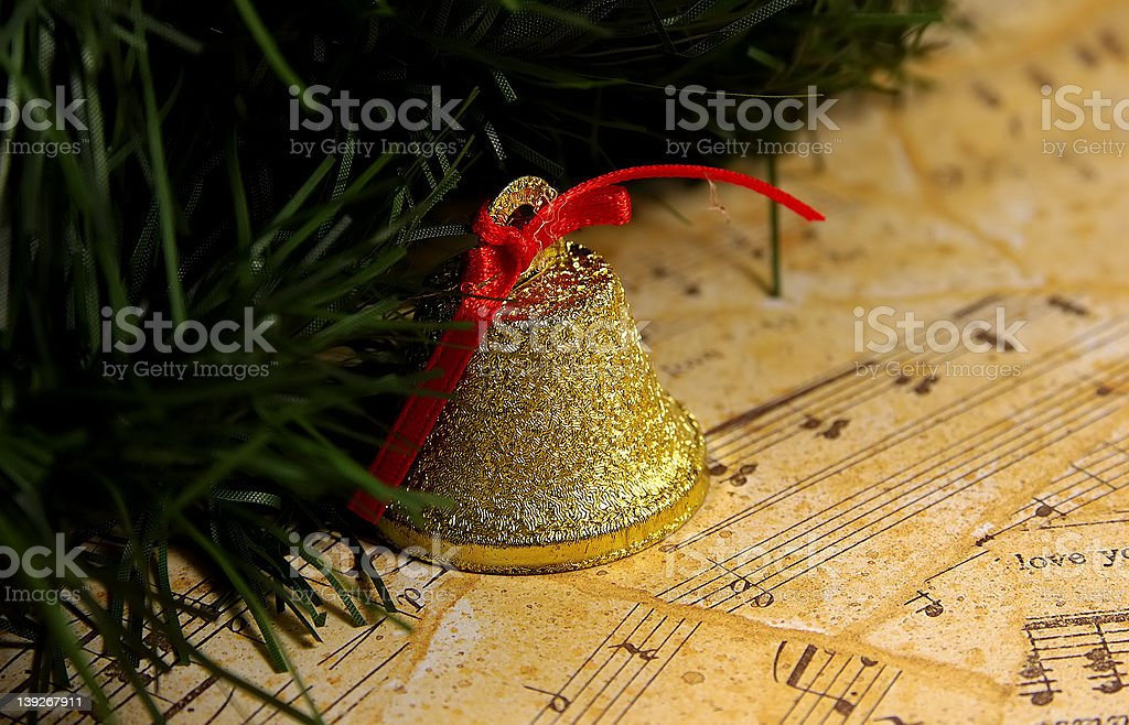 Christmas Music stock photo