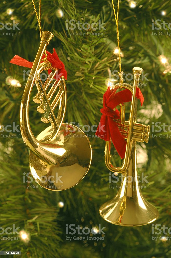 Christmas Musical Instruments royalty-free stock photo