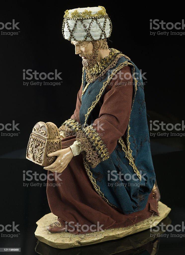 Christmas Nativity (Wiseman) stock photo