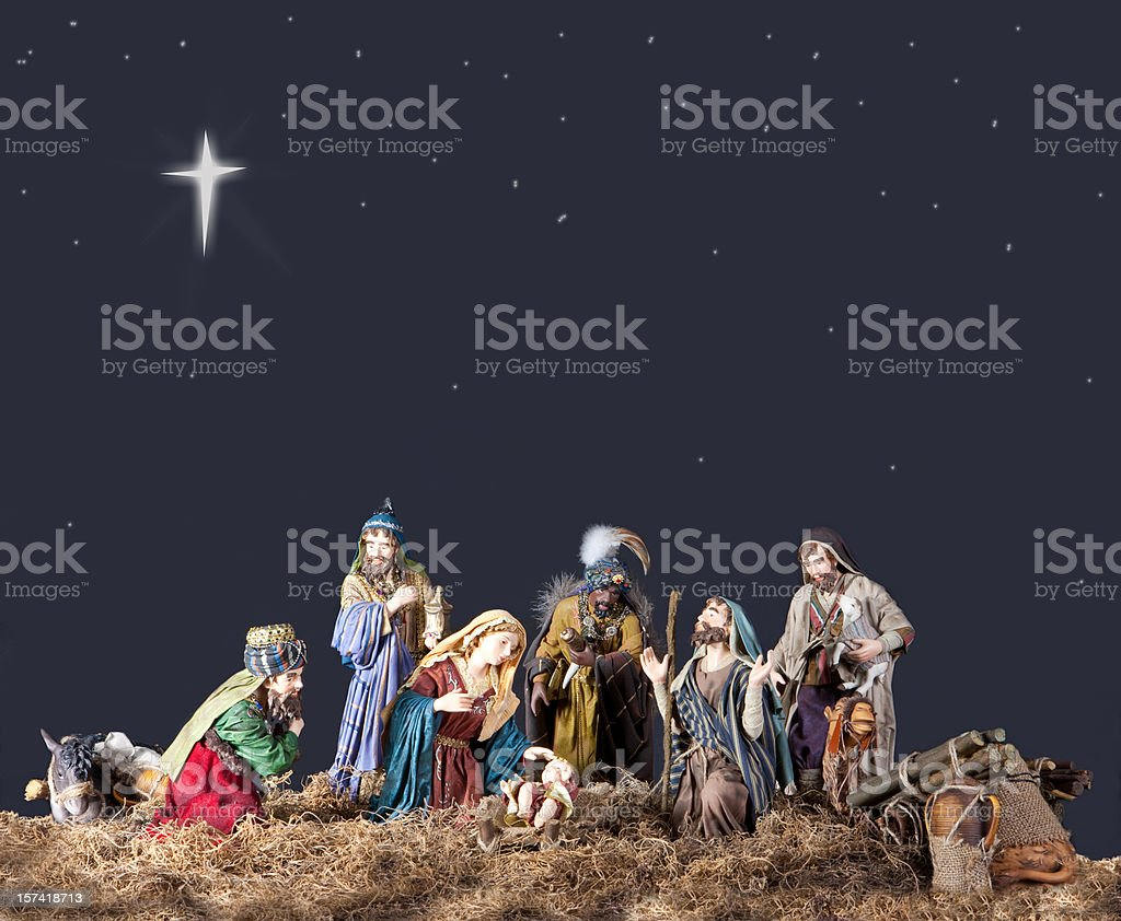 Christmas Nativity stock photo