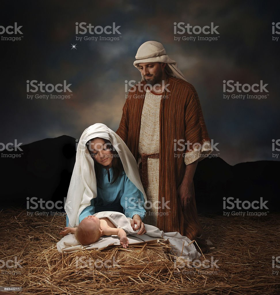 Christmas nativity stock photo