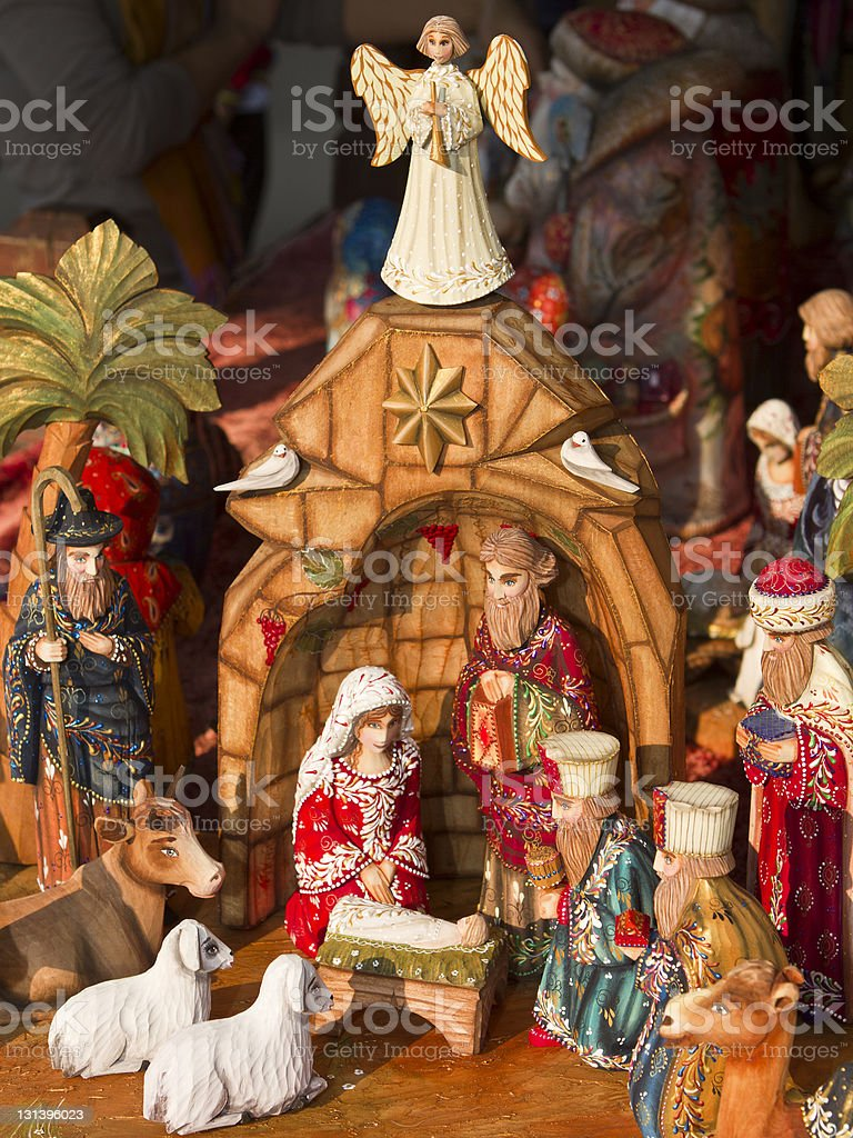 Christmas Nativity Set royalty-free stock photo