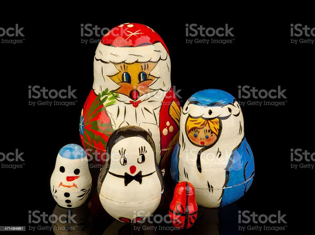 Christmas Nesting Doll stock photo
