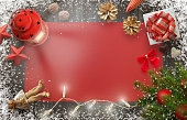 Christmas New Year background image with decorations.