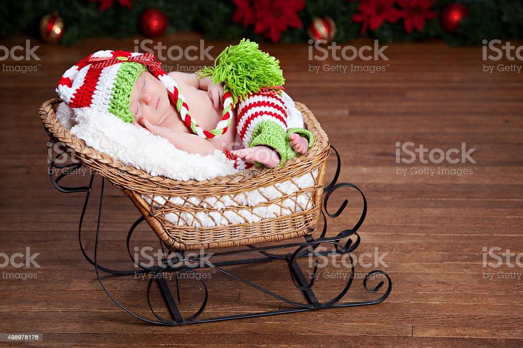 Christmas Newborn stock photo