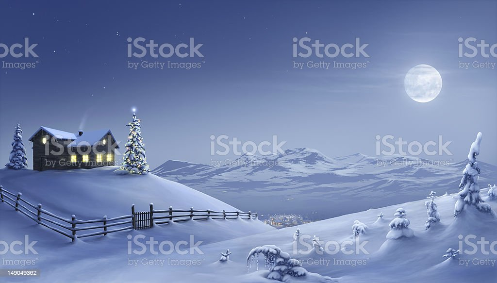 Christmas night stock photo