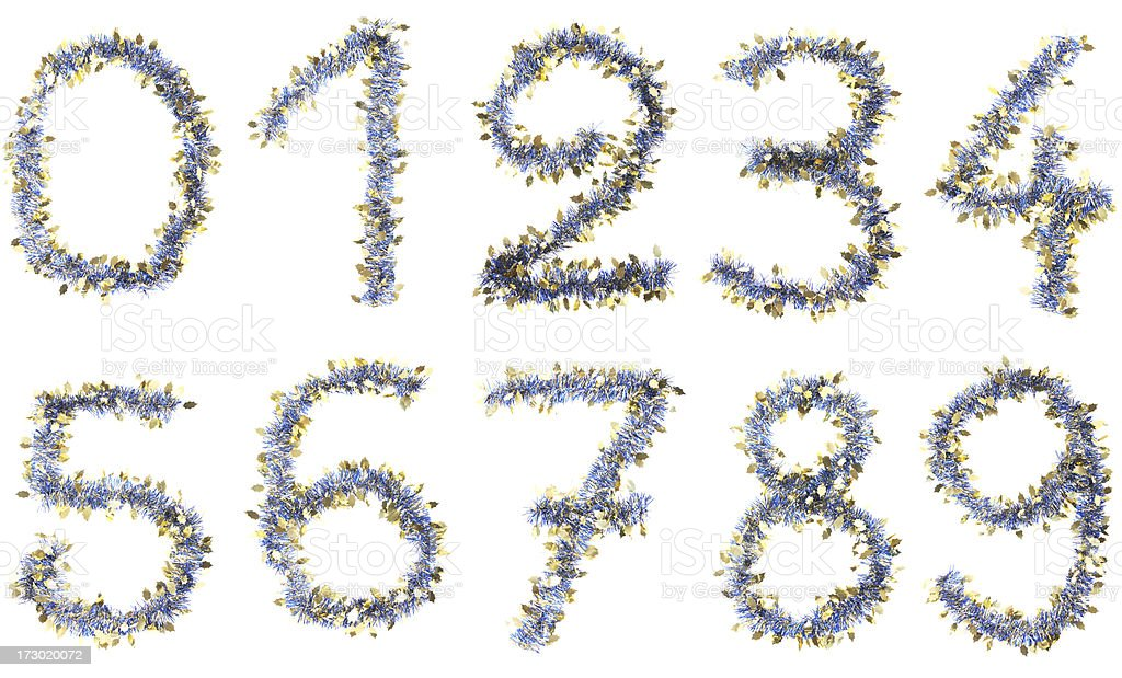 Christmas numbers royalty-free stock photo