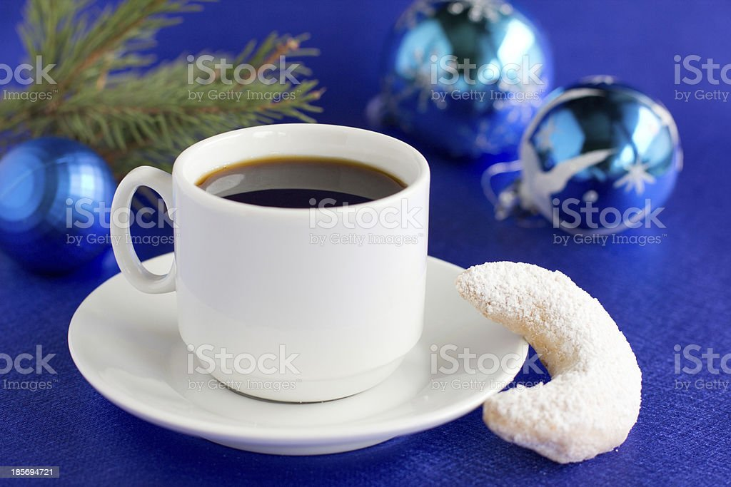 Christmas nut biscuits, croissant. royalty-free stock photo