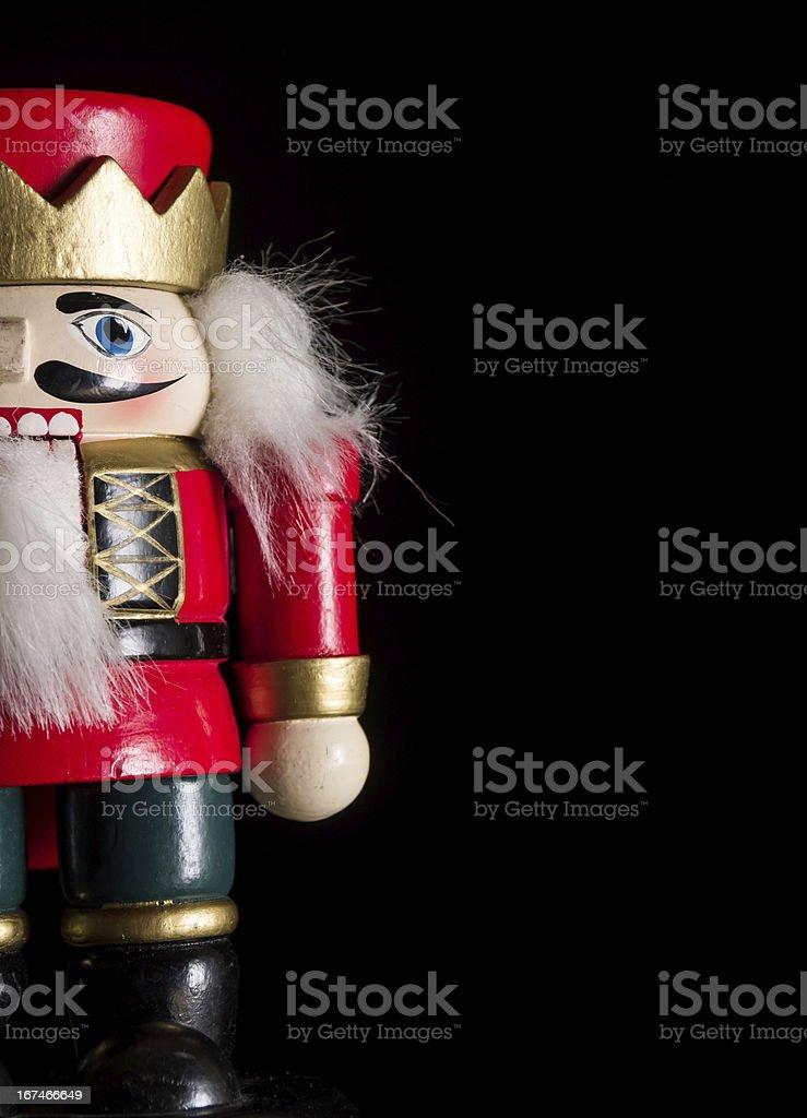 Christmas nutcracker background stock photo