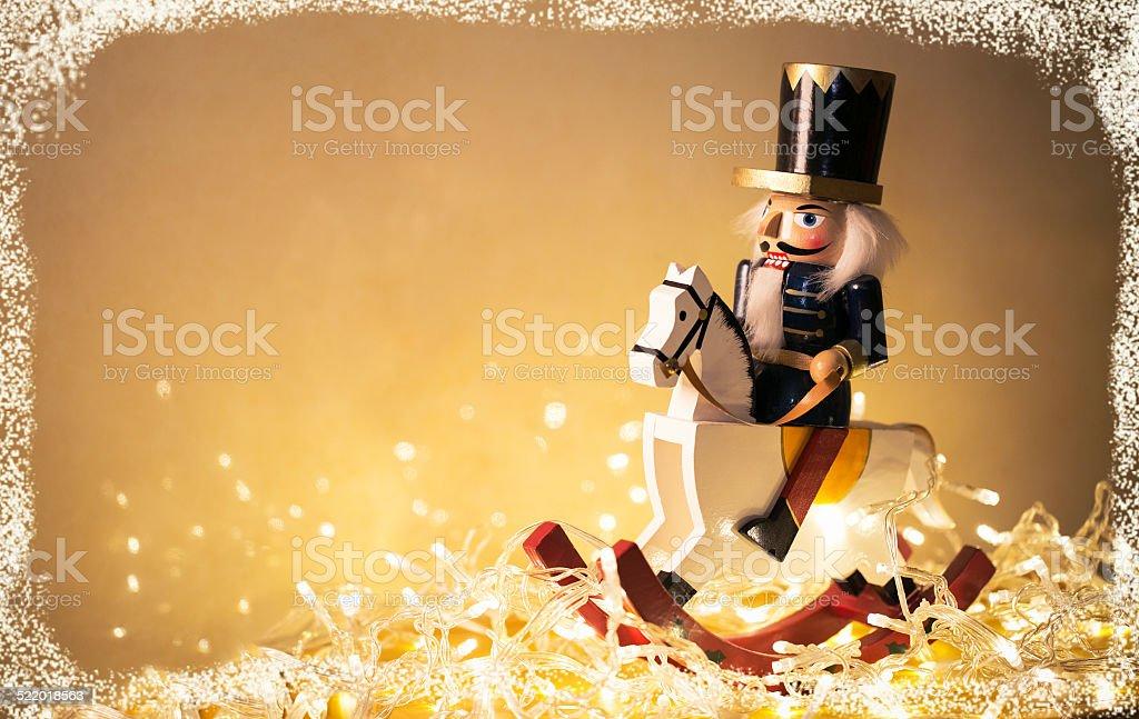 Christmas nutcracker stock photo