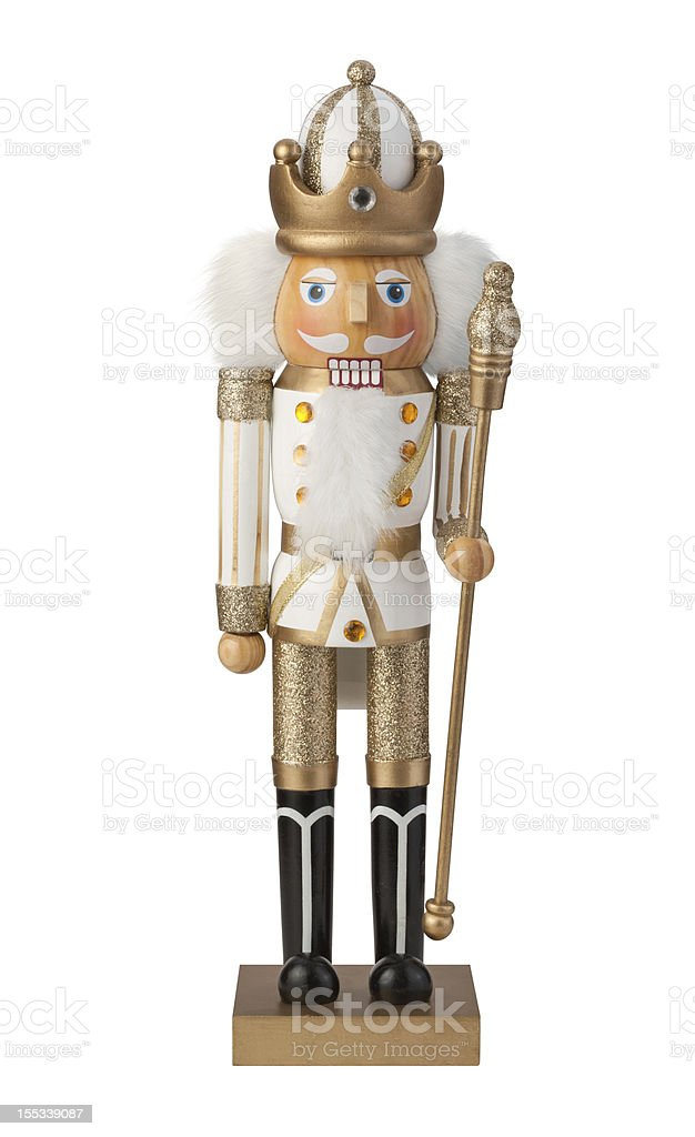 Christmas Nutcracker with clipping path stock photo