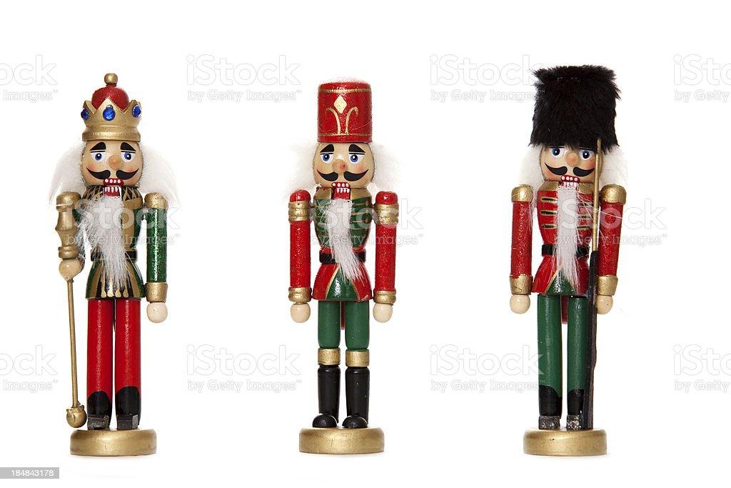 Christmas nutcrackers stock photo