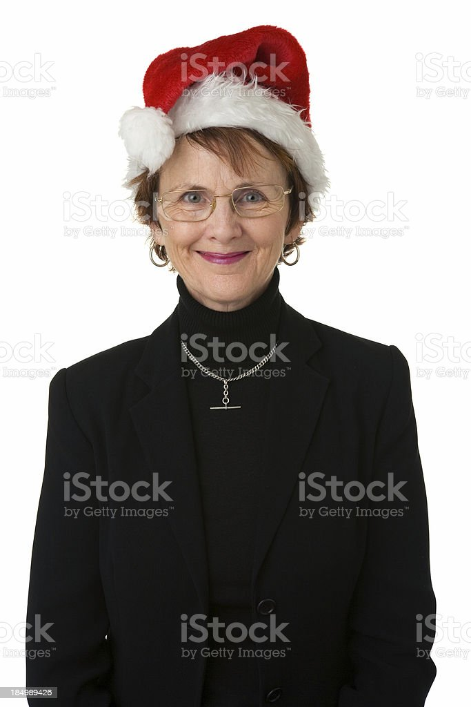 Christmas Office Lady royalty-free stock photo