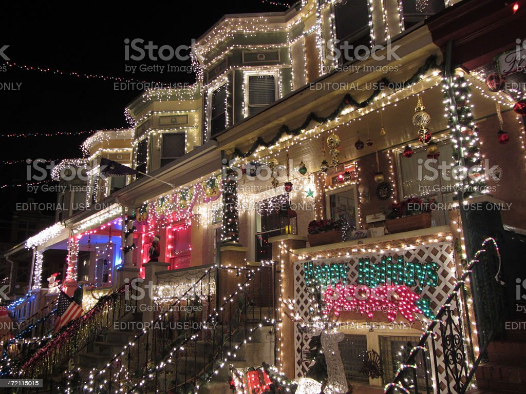 Christmas on 34th Street stock photo