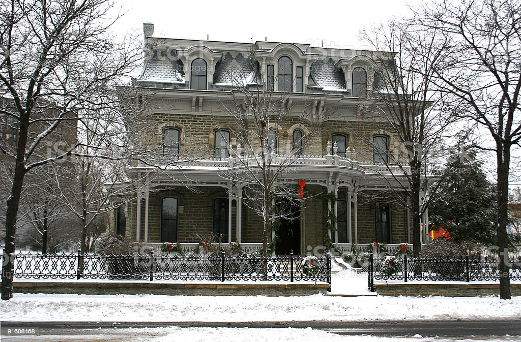 Christmas on Summit Avenue royalty-free stock photo