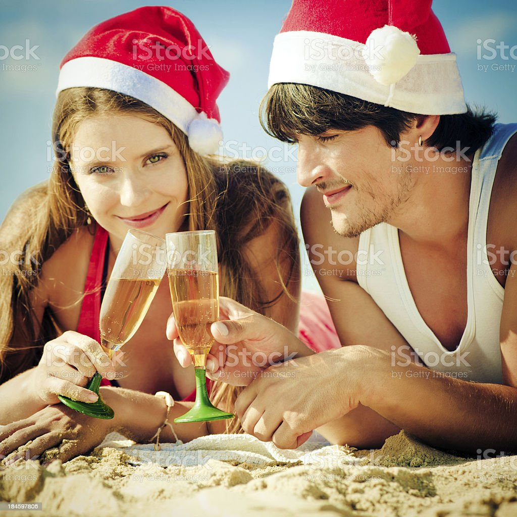Christmas on the beach royalty-free stock photo