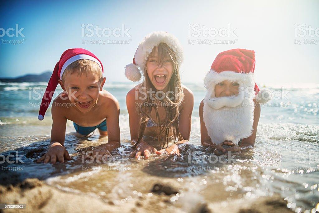 Christmas on the beach stock photo