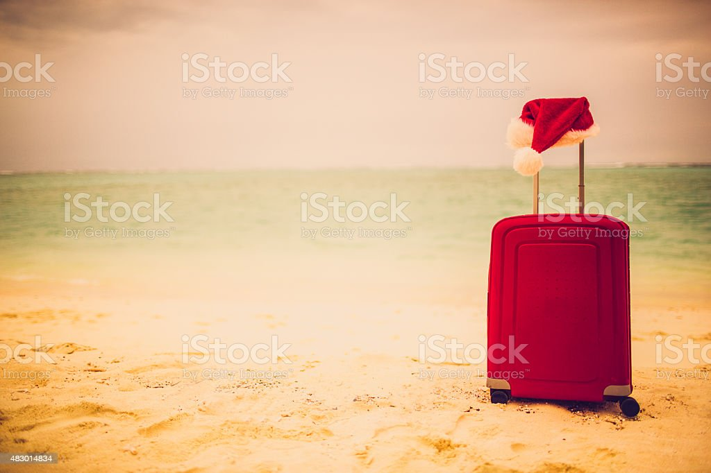 Christmas on the tropical island stock photo