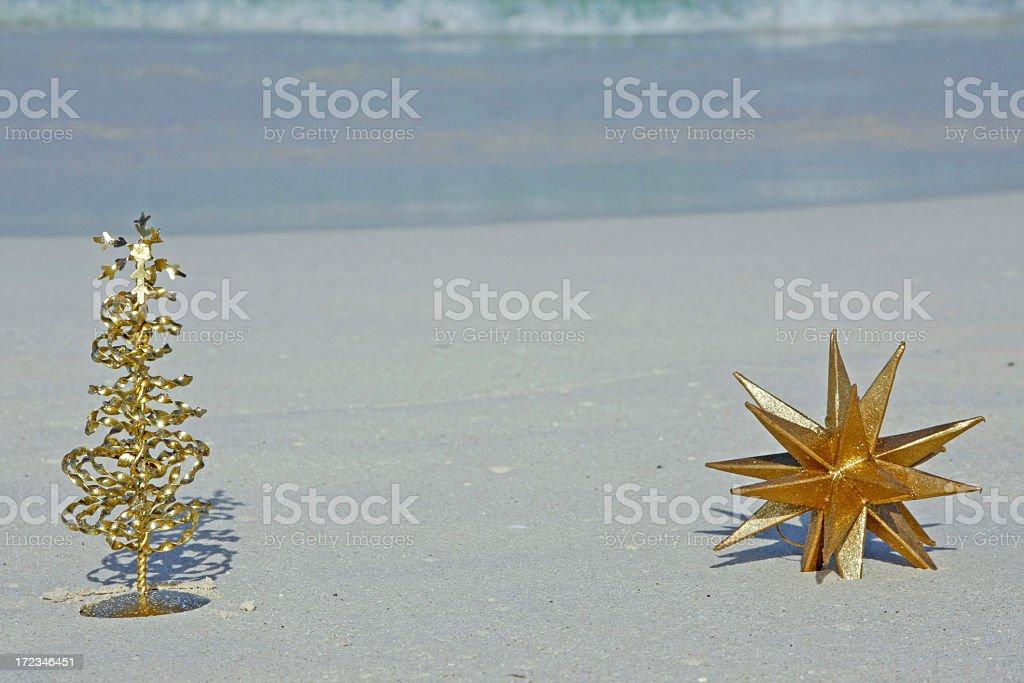 Christmas on tropical beach # 7 stock photo