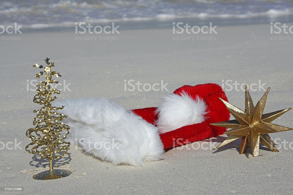 Christmas on tropical beach # 1 stock photo