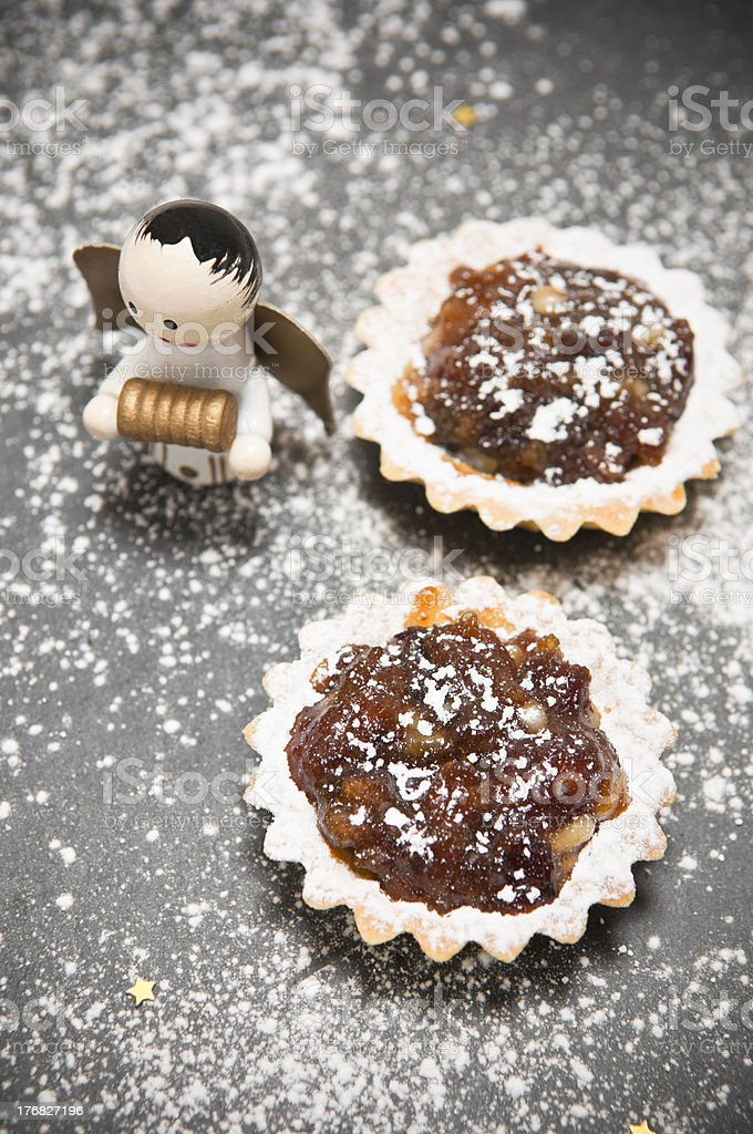 Christmas open mince pies. royalty-free stock photo