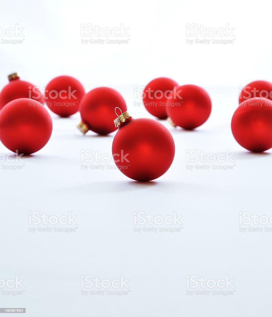 크리스마스 및 새해 공유일 데커레이션 빨간색 크리스마스 공 royalty-free 스톡 사진