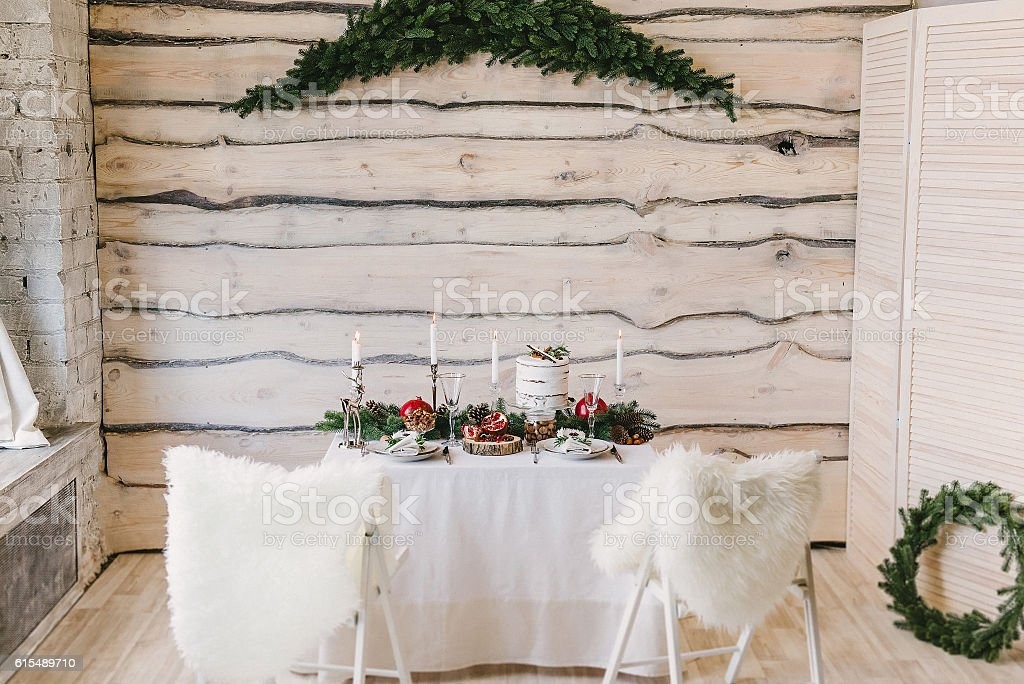 Christmas or New Year's interior stock photo