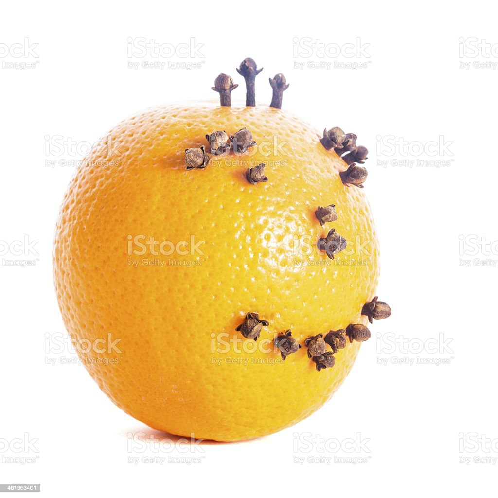 Christmas orange face stock photo