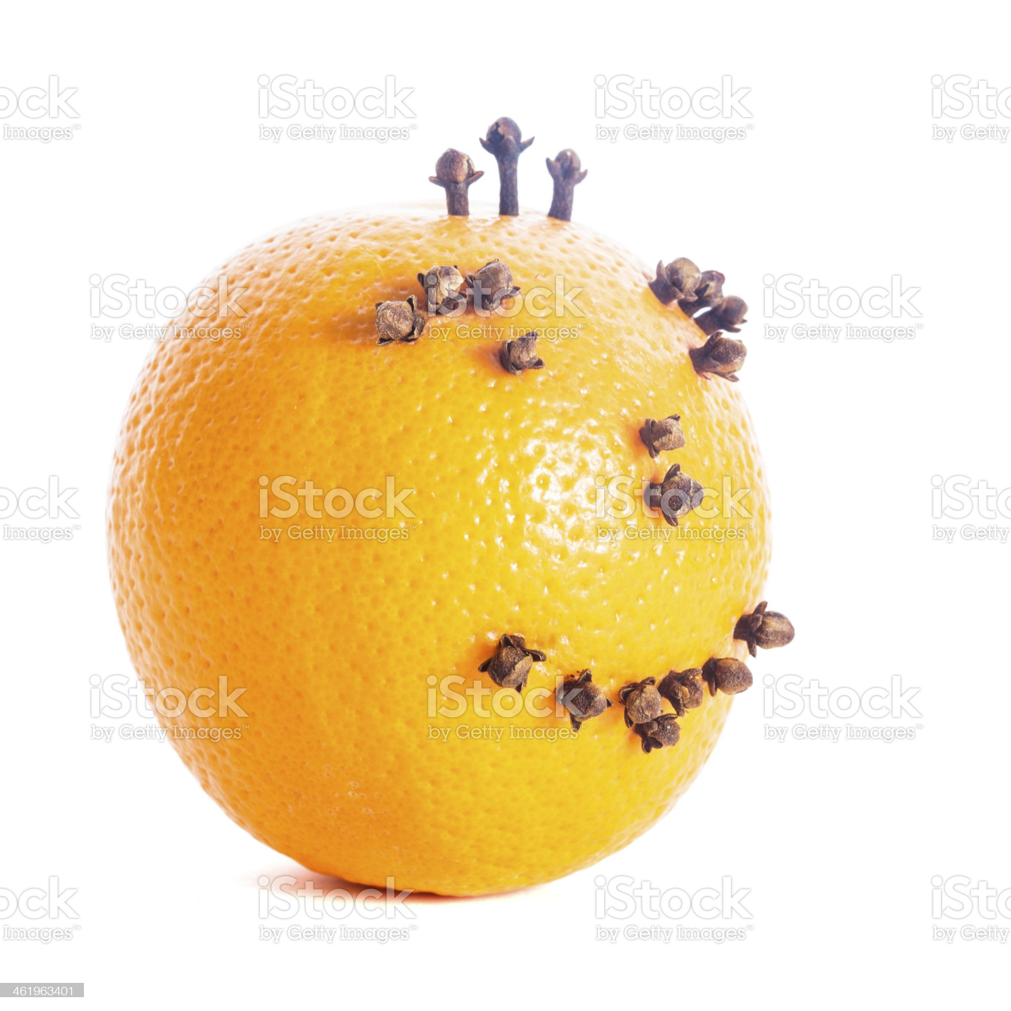 Christmas orange face royalty-free stock photo