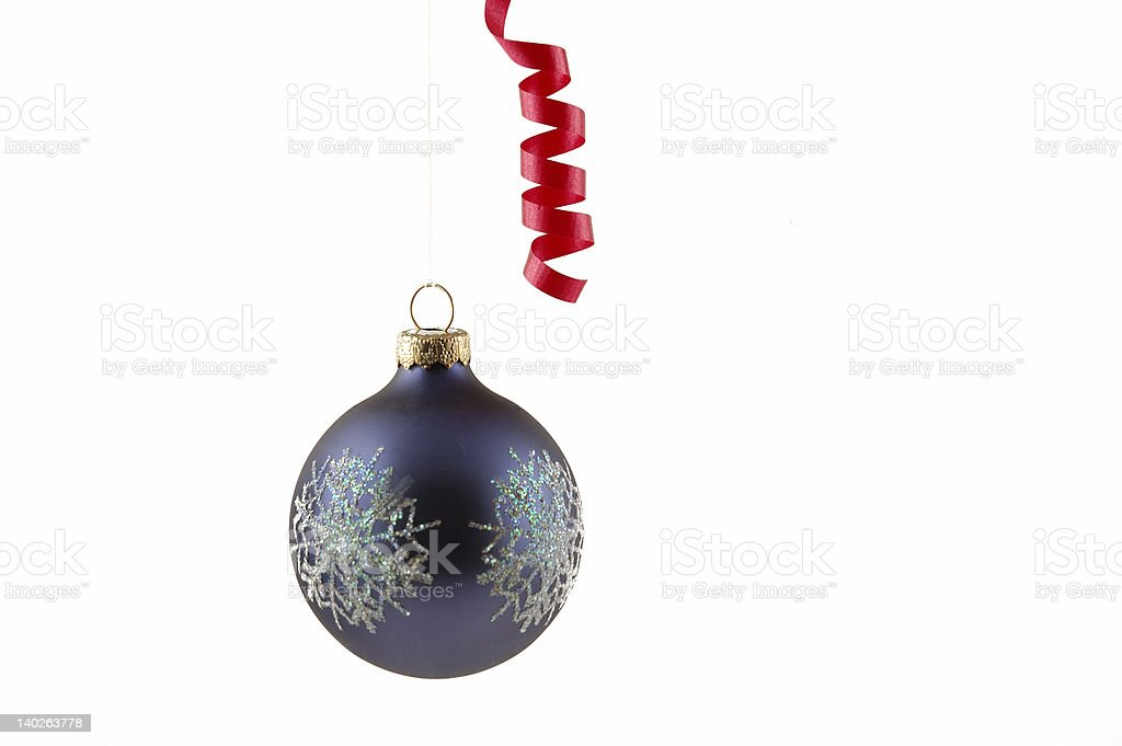 Christmas ornament and ribbon royalty-free stock photo