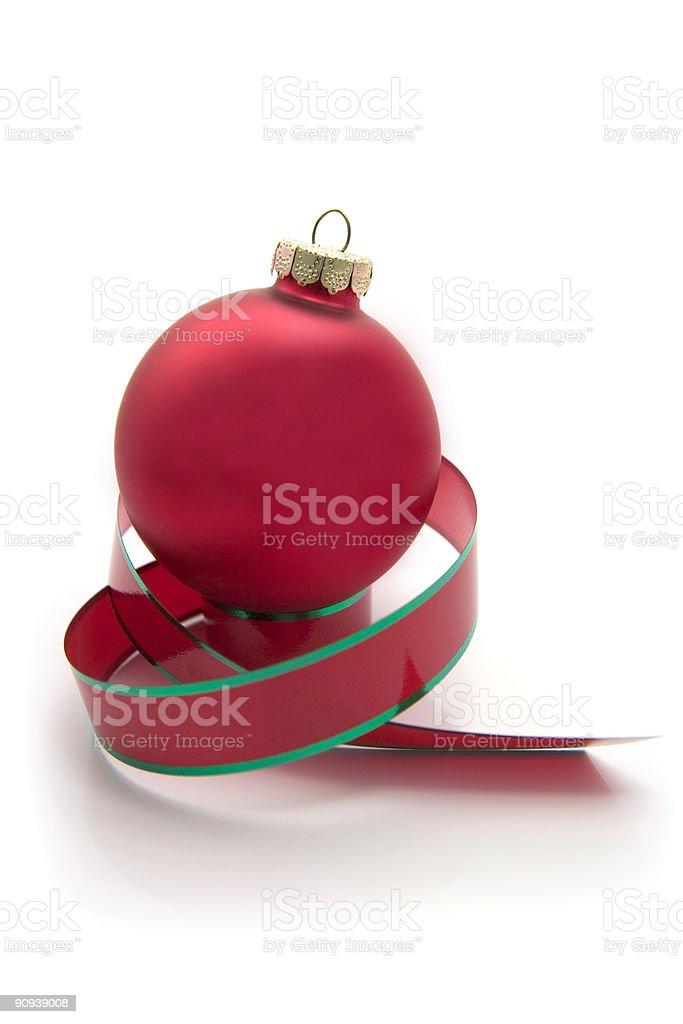Christmas Ornament and Ribbon royalty-free stock photo