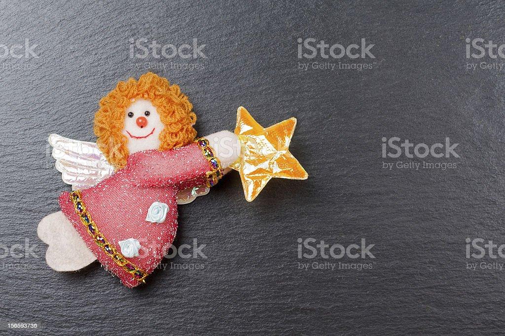 Christmas ornament: Annunciation Angel Gabriel royalty-free stock photo