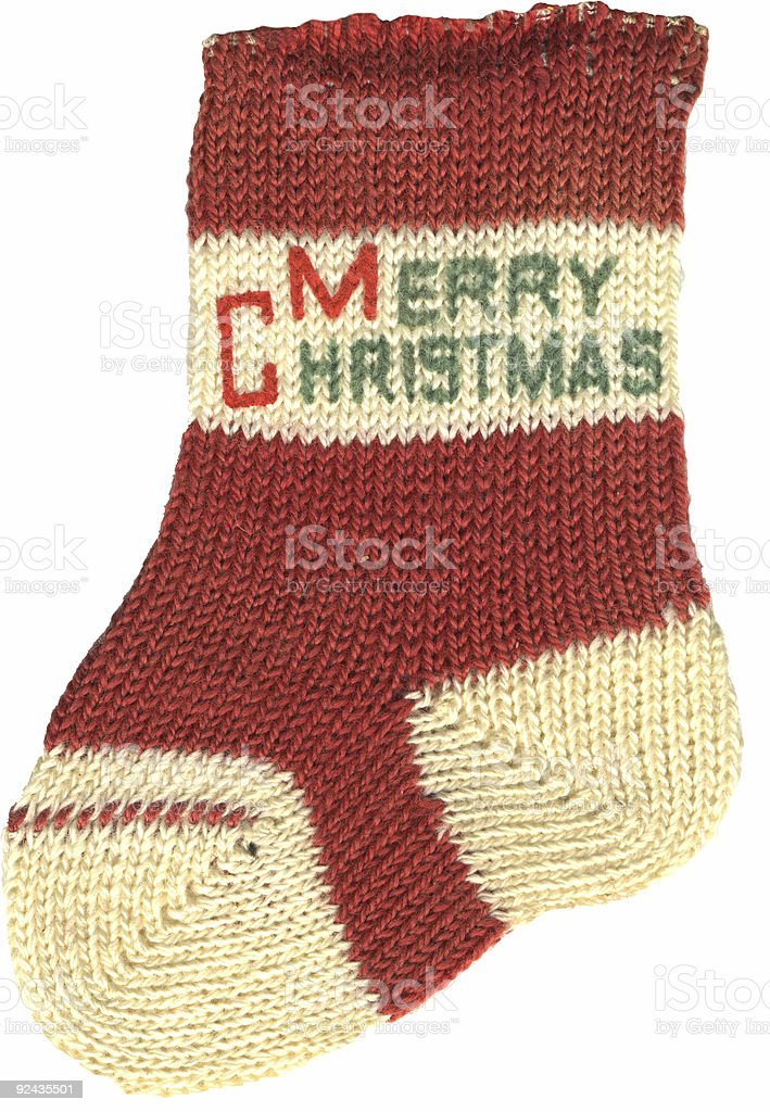 Christmas ornament bootie stock photo