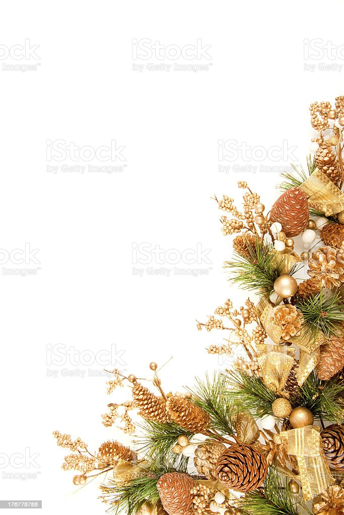 Christmas Ornament Corner Decoration Series stock photo