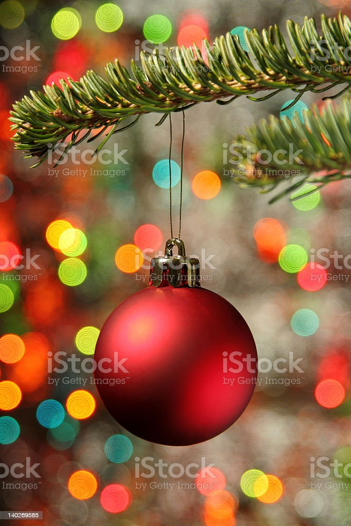 Christmas ornament hanging from branch royalty-free stock photo