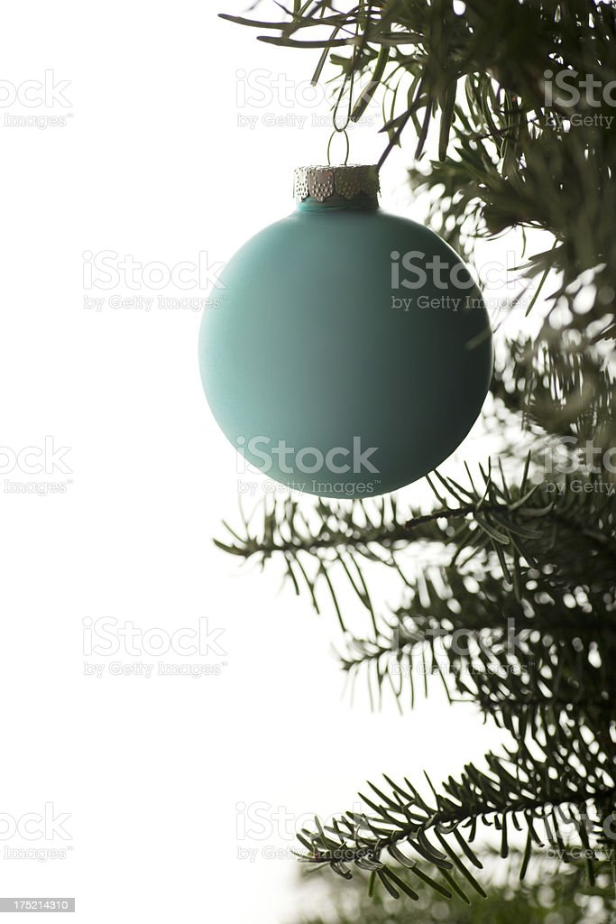 Christmas Ornament Hanging on a Tree stock photo