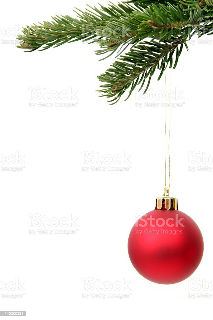 Christmas ornament hanging royalty-free stock photo