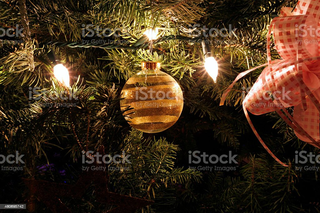 Christmas Ornament in the Tree stock photo