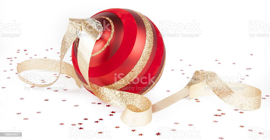Christmas ornament isolated on white royalty-free stock photo