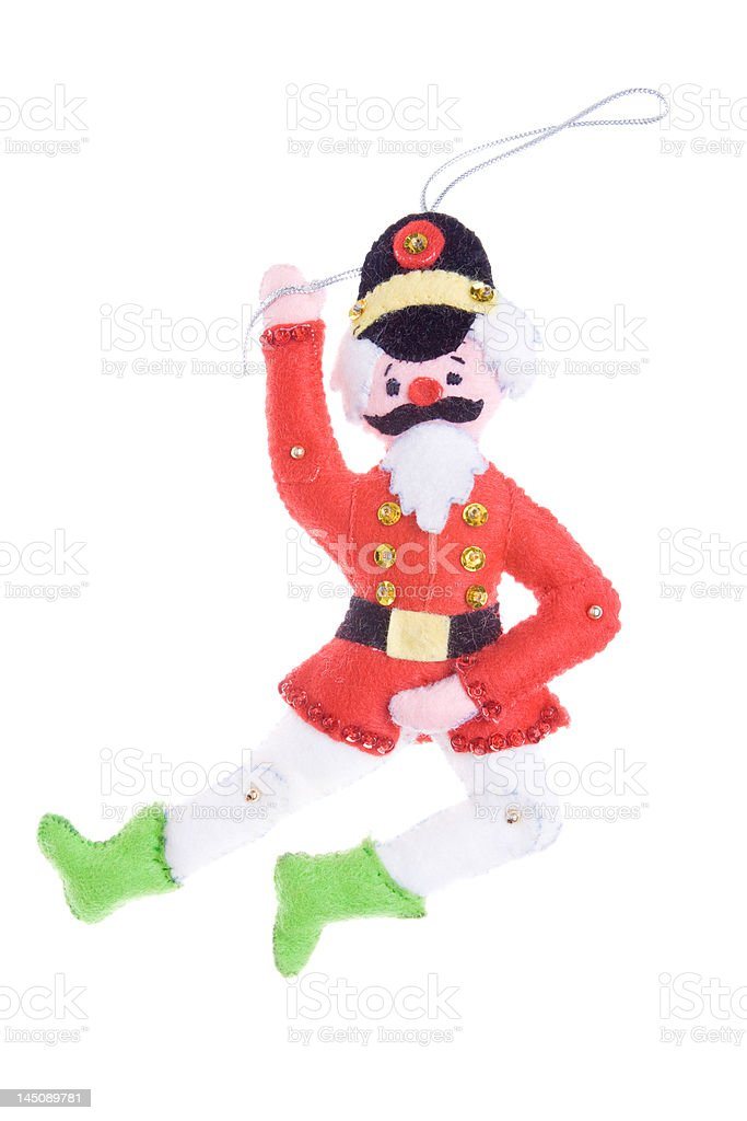 Christmas Ornament  Man Lord a Leapin'  Isolated on White Background stock photo