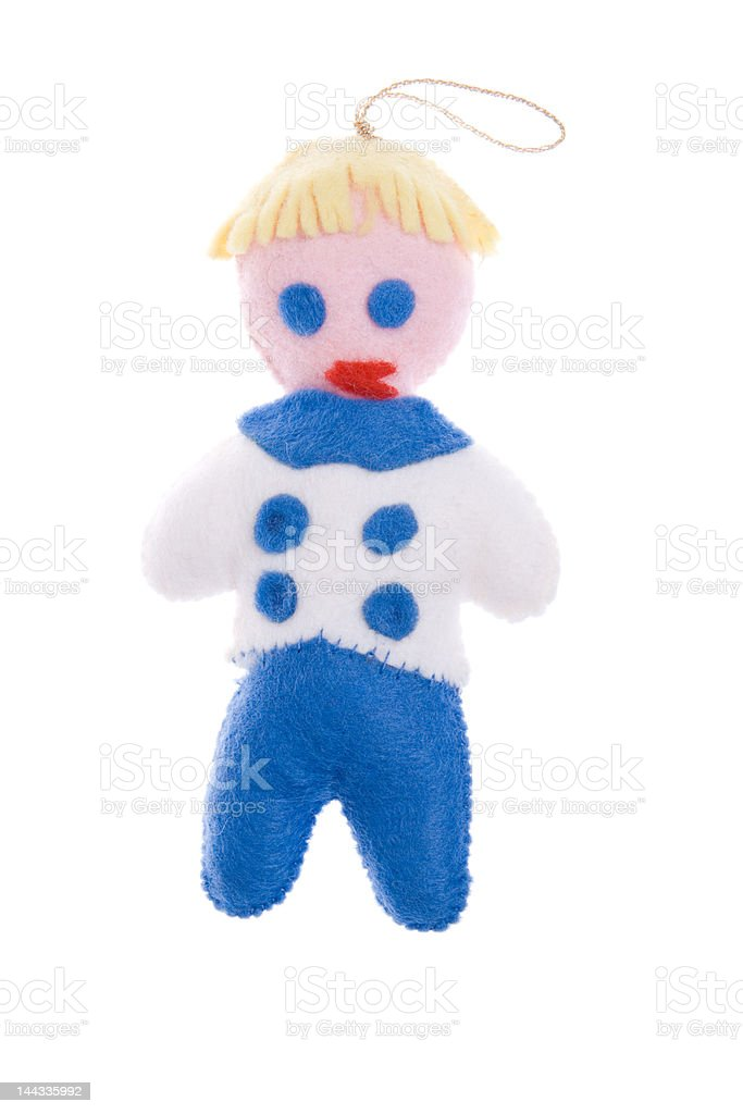 Christmas Ornament Mr Bill Sailor Boy Isolated On White Background ...