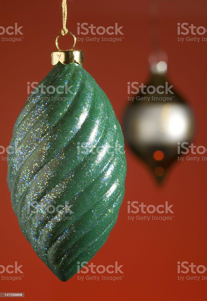 Christmas Ornament Pair royalty-free stock photo