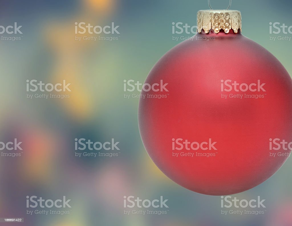 Christmas Ornament with blurred Background royalty-free stock photo