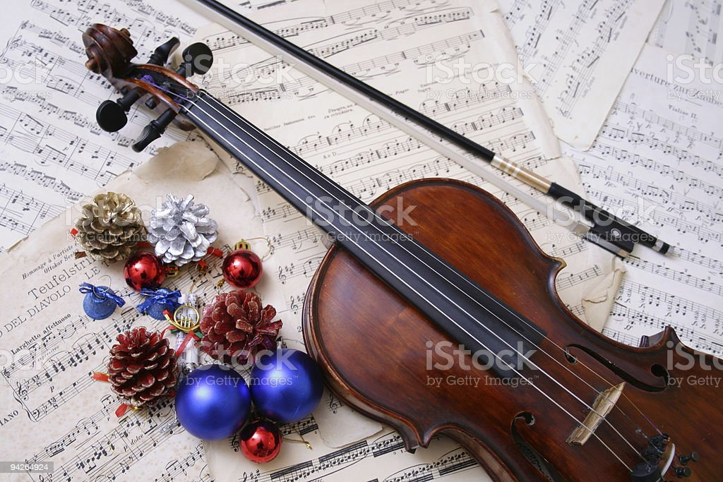 Christmas  ornament with violin royalty-free stock photo