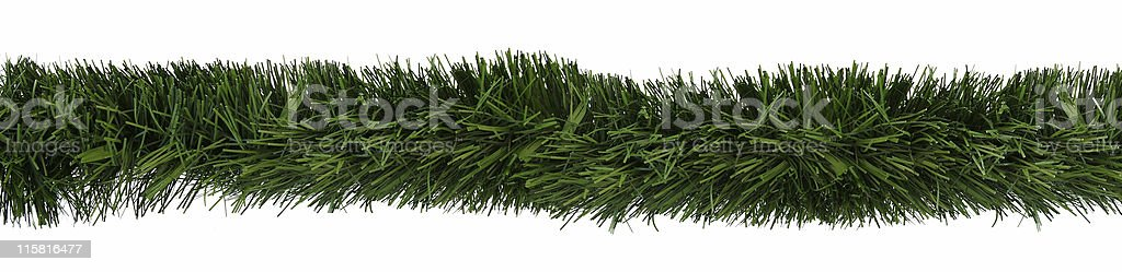 Christmas ornamental garland stock photo
