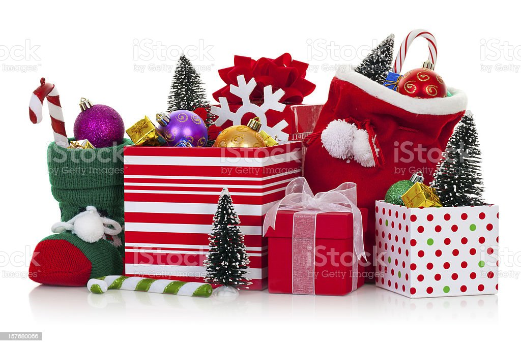 Christmas ornaments and decorations royalty-free stock photo