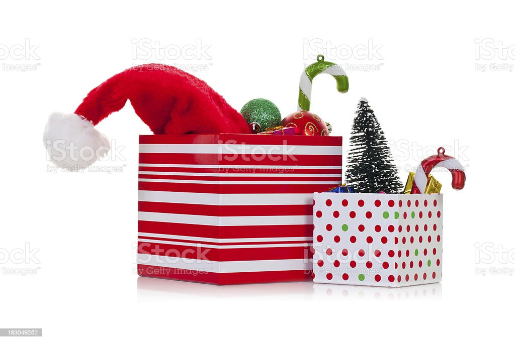 Christmas ornaments and decorations stock photo
