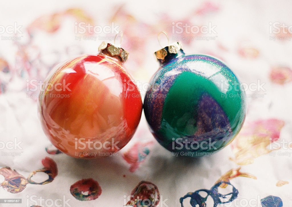 Christmas Ornaments being made royalty-free stock photo
