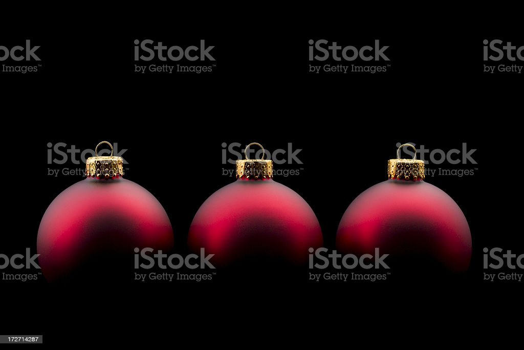 Christmas Ornaments on black stock photo